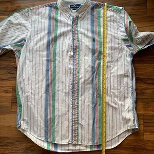 Ralph Lauren men retro stripes casual shirt XL